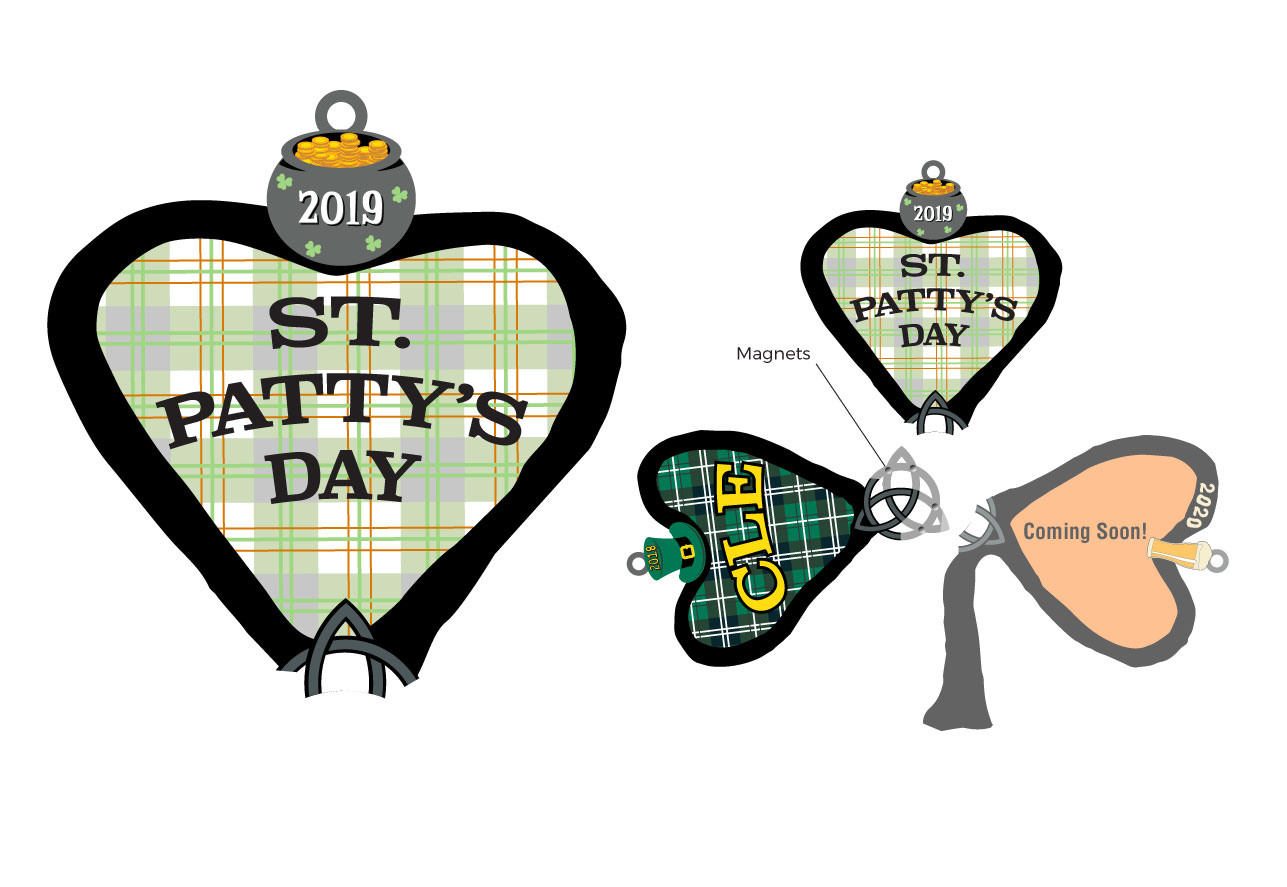 ad6c3dafc (3 Part medal – receive one piece in each of the first 3 annual races).  Click to enlarge. Above are images of both the 2019 Cleveland St. Patrick s  Day Run ...